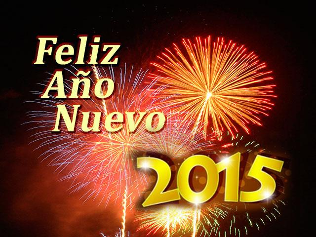 año nuevo 2015 fuegos artificiales rojos