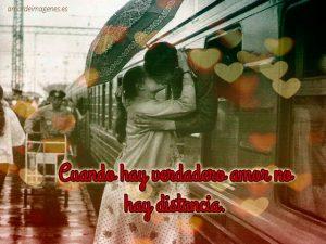 beso en tren