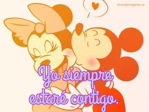 Imagenes de amor de dibujos animados mickey y minnie