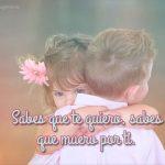 niños enamorados con frases niños rubios