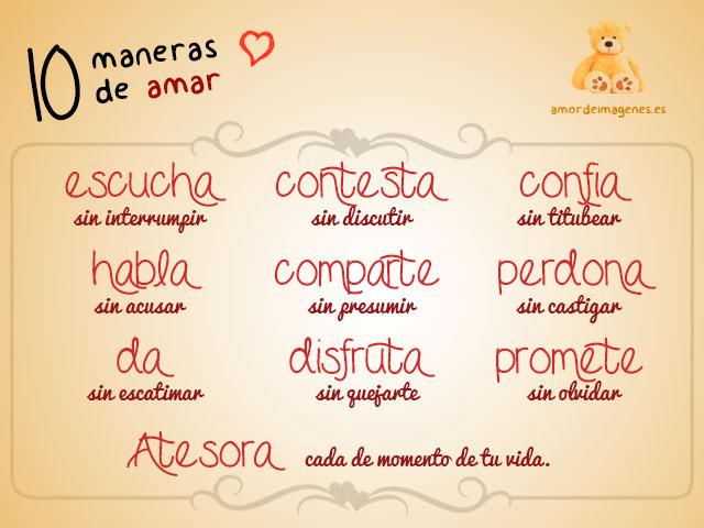 Frases de amor 10 maneras de amar