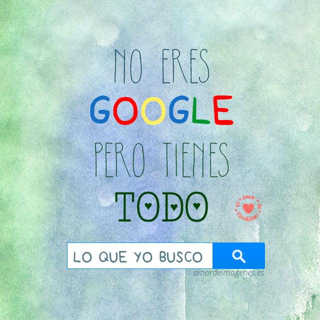 Frases de amor Google