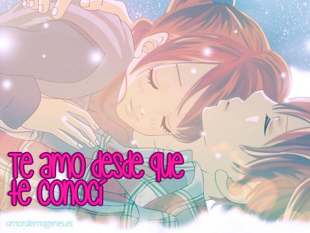 Imagenes de amor de anime echados