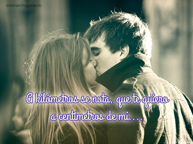 Imágenes de besos con frases  beso romantico