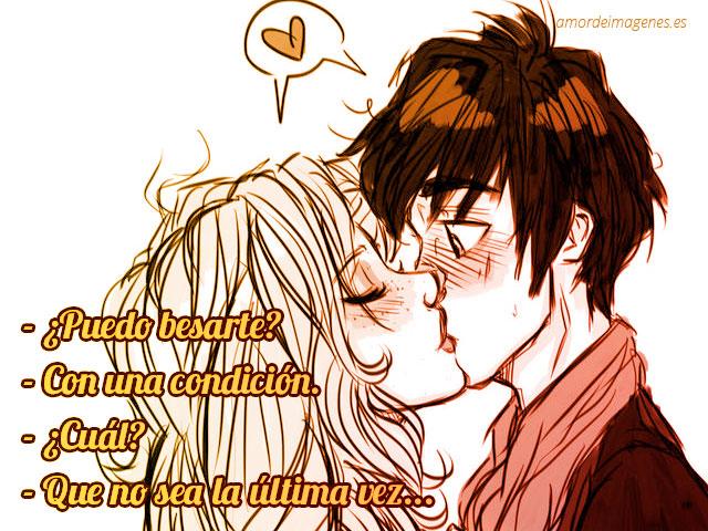 Imágenes de besos con frases desprevenido