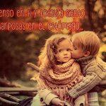 Imágenes de besos con frases niños