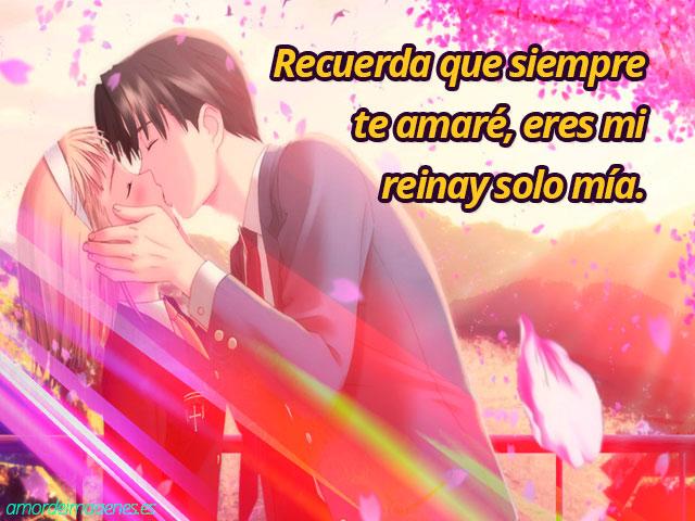 Imágenes de amor de animes beso