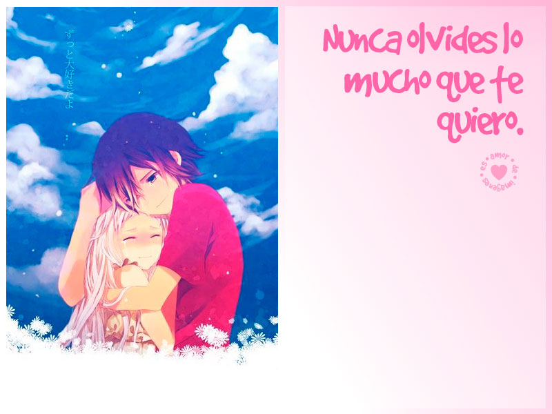 Imagenes de animes de amor nubes