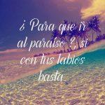 Frases de Amor para Facebook playa