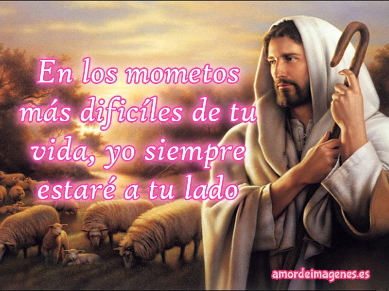 Imágenes de Jesus con frases de reflexion Jesús con bastón