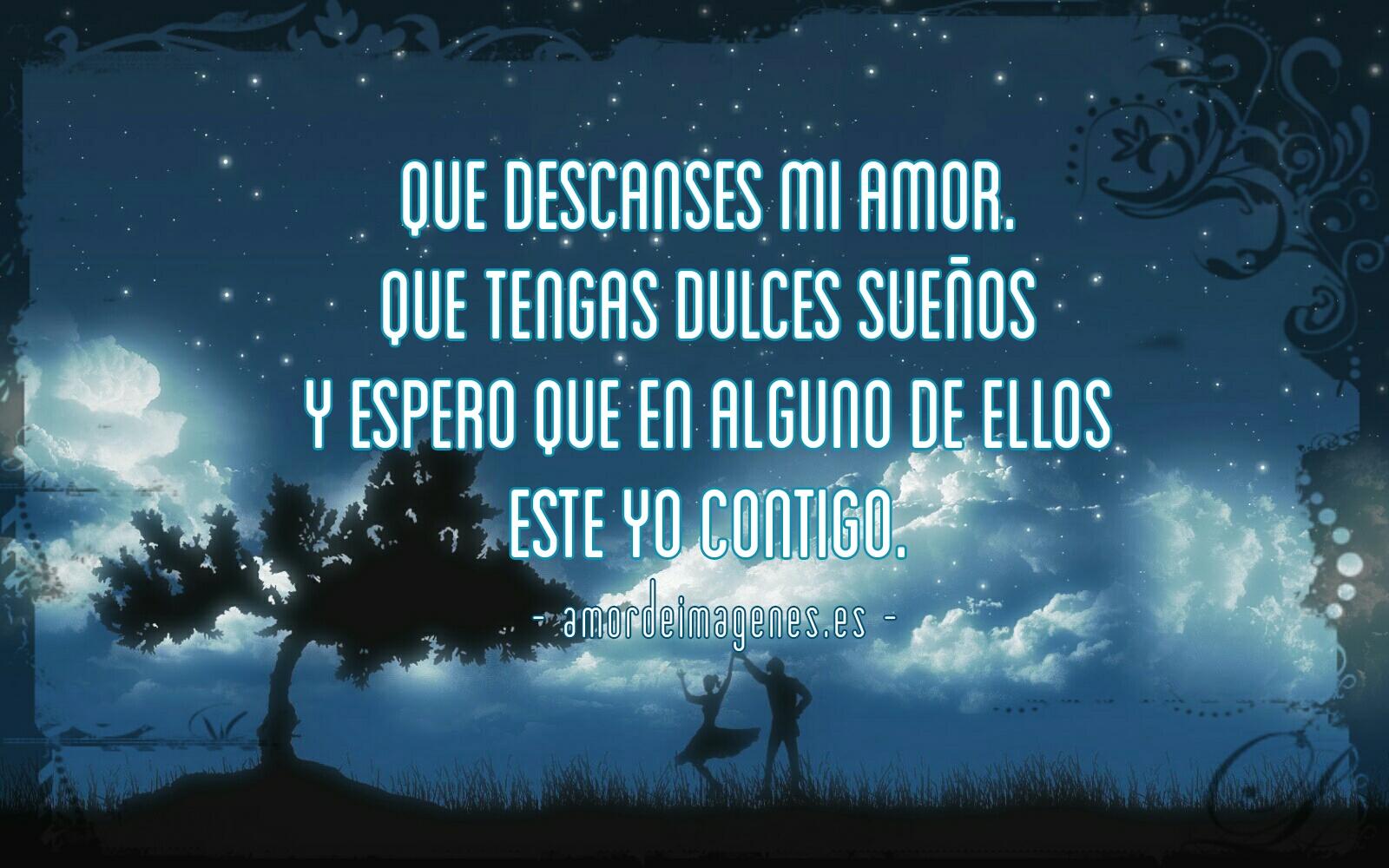Frases de Amor para Dormir siluetas bajo el árbol