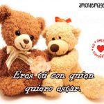 Imágenes de Ositos con Frases de Amor osos con lazos
