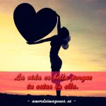 La Vida Es Hermosa - Tarjetas silueta corazon