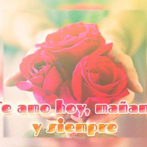 Bonita imagen de amor con rosas