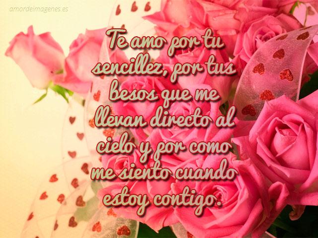 bonitas rosas con frase de amor