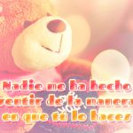 Bonito oso de peluche con frase de amor