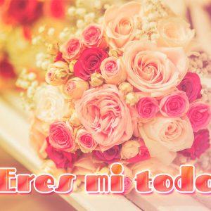 Corto mensaje de amor con rosas