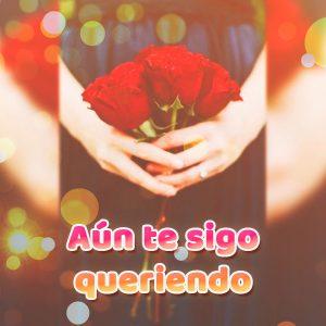 Hermosa tarjeta de amor con rosas y frase