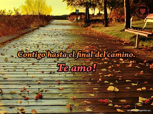 Contigo hasta el final del camino. Te amo!
