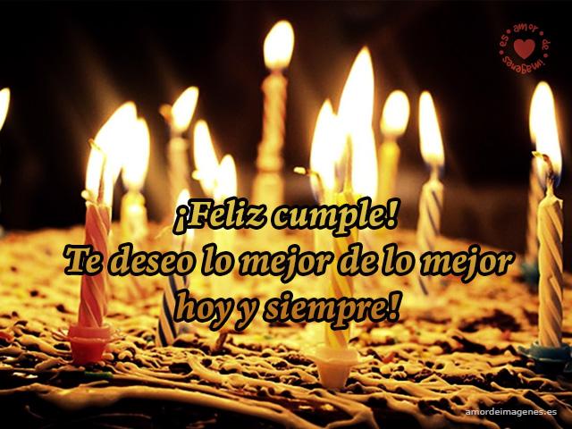 Imagen De Torta Con Velitas Frases De Cumpleanos