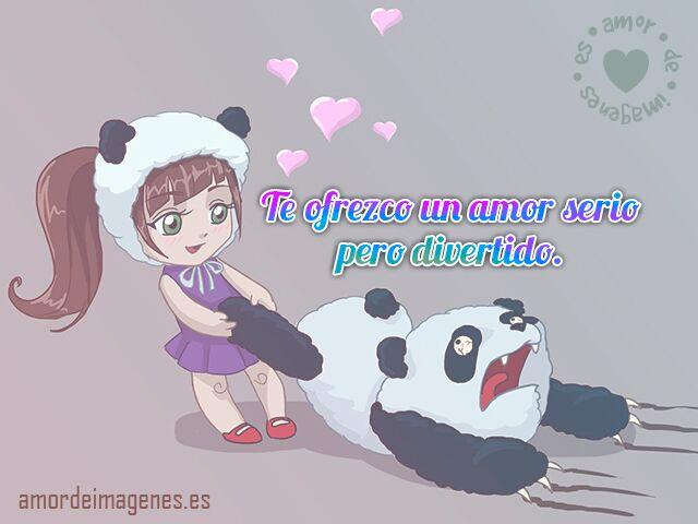 Imagen Graciosa De Amor Con Panda Palabras De Amor Para Mi Novia