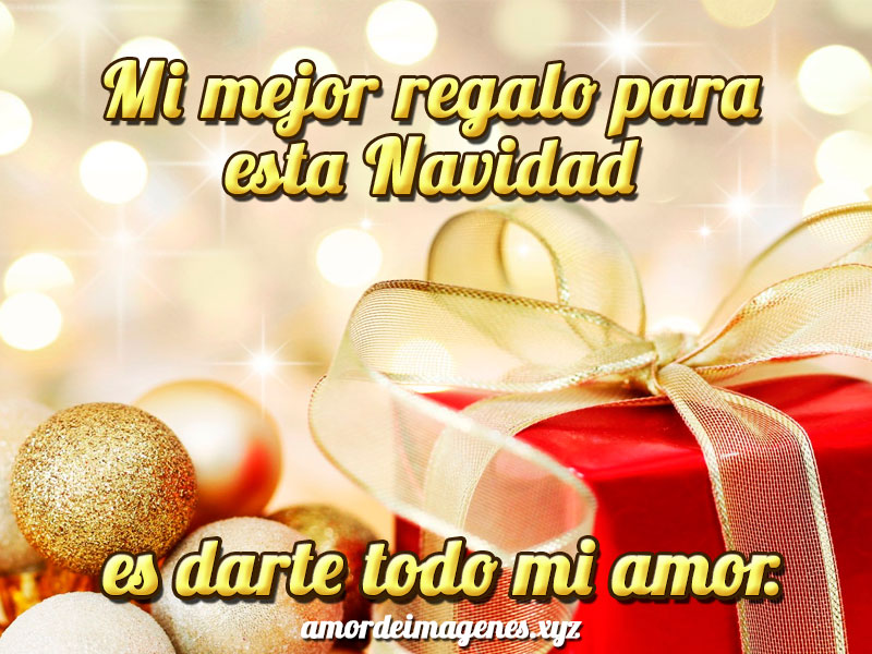 mi mejor regalo para esta navidad es darte todo mi amor