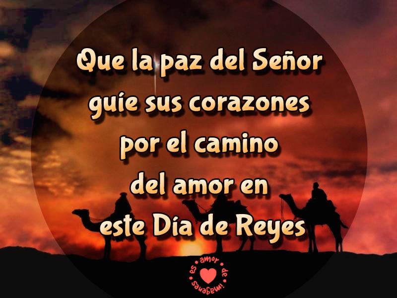 Que la paz del señor guíe sus corazones por el camino del amor en este día de Reyes