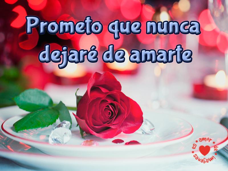 Prometo que nunca dejaré de amarte