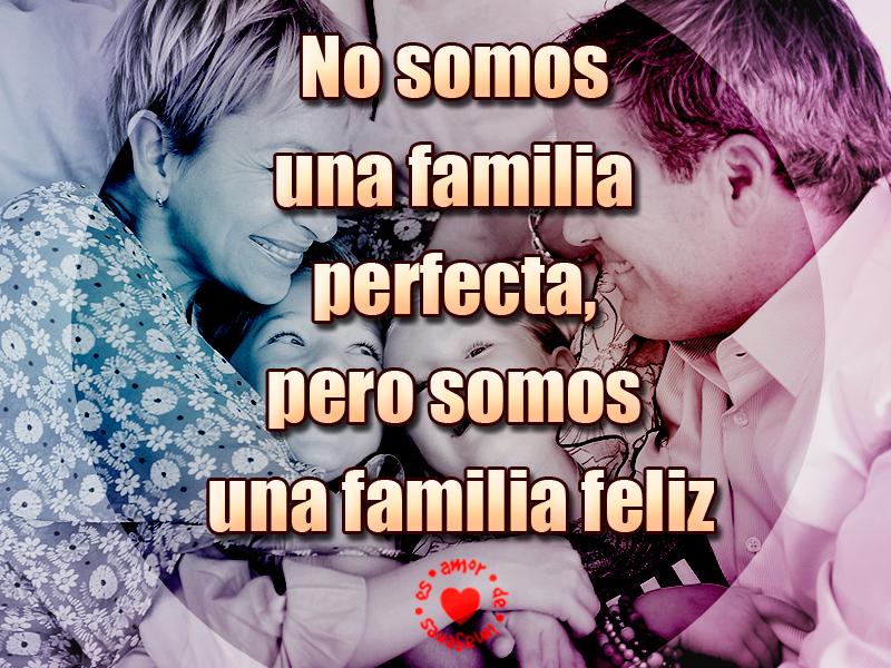 No somos una familia perfecta, pero somos una familia feliz