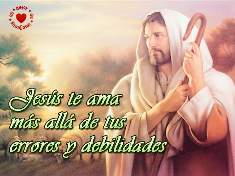 Jesús te ama más allá de tus errores y debilidades