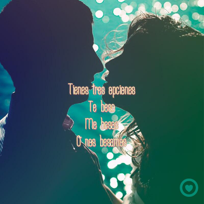 Beso de pareja