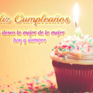 Imagen de feliz cumpleaños con cupcake