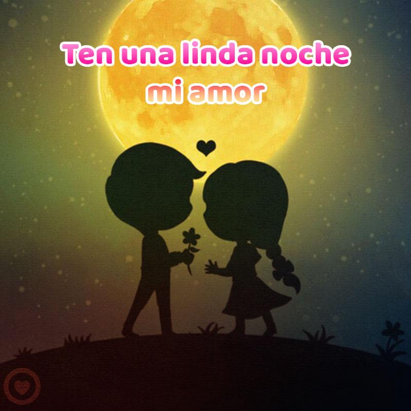 bella imagen de buenas noches de amor