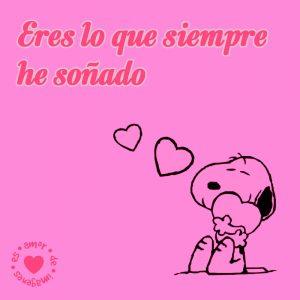 bonita dibujo de Snoopy de amor