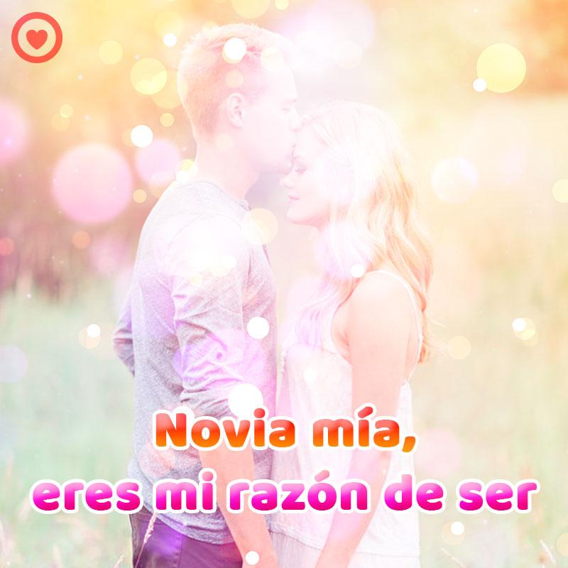 Bonita Imagen Beso En La Frente Con Frase De Amor Para Novia