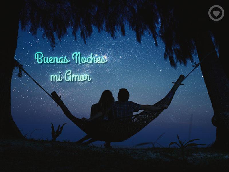 bonita imagen de buenas noches mi amor