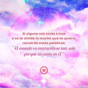 bonita imagen de cielo rosado con bonito mensaje de amor