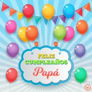 bonita imagen de feliz cumpleaños papá