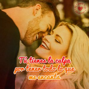 bonita imagen de pareja feliz con frase