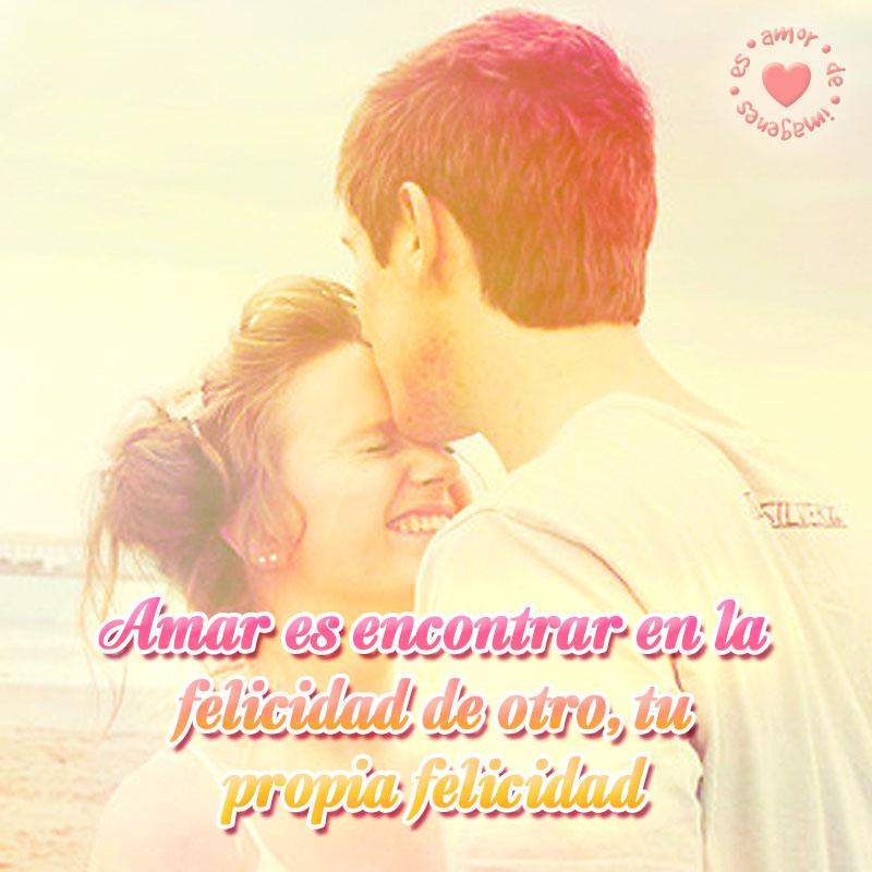 bonita imagen de pareja joven con frase de amor