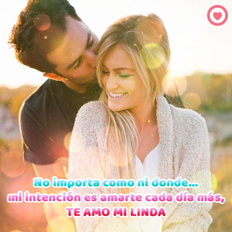 Bonita Pareja Feliz Con Frase De Amor Novia