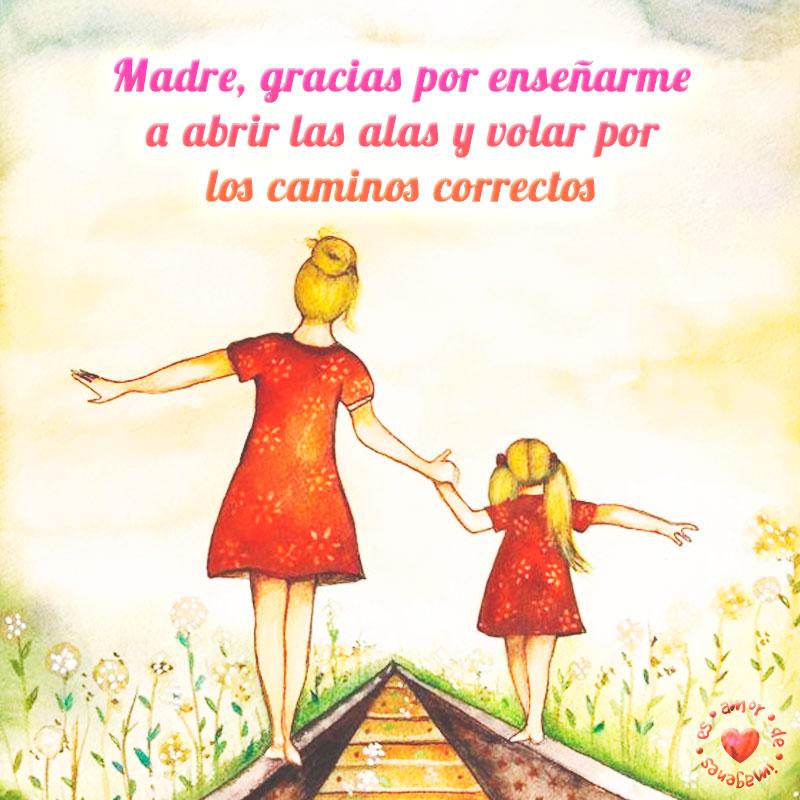 Bonita postal con dedicatoria para mamá