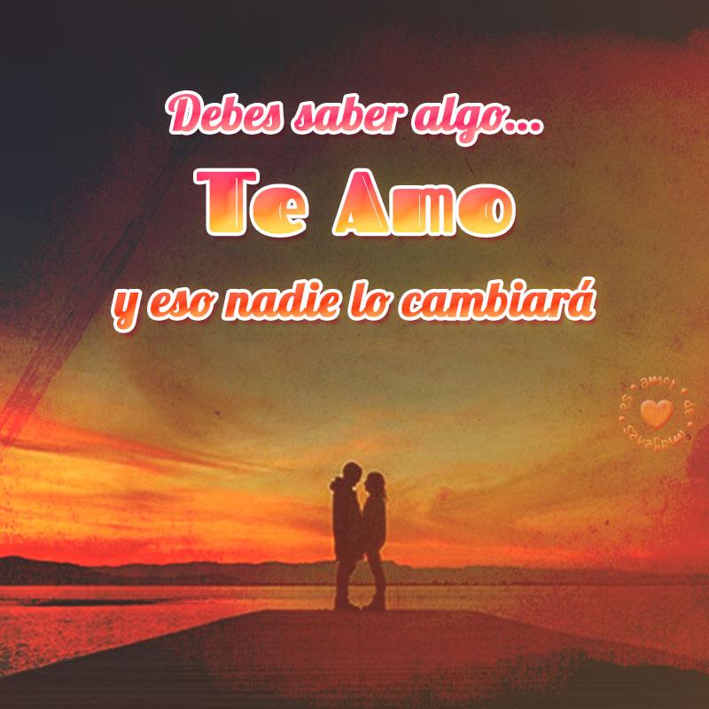 bonita postal de amor con frase te amo