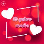 bonita tarjeta de corazones con frase de amor
