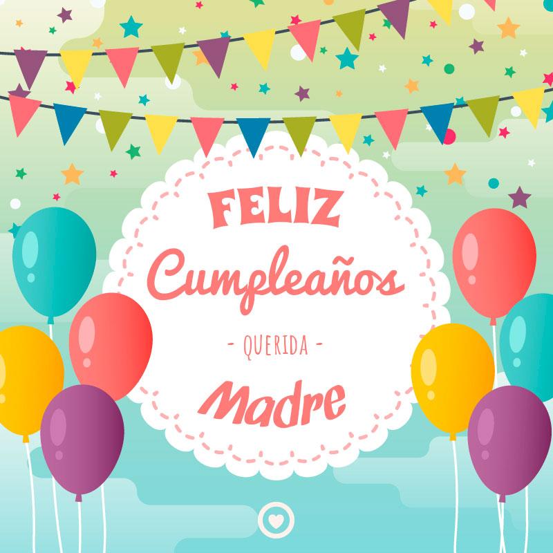 bonita tarjeta de feliz cumpleaños madre