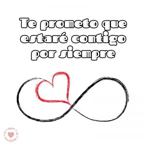 bonito dibujo de infinito con frase de amor