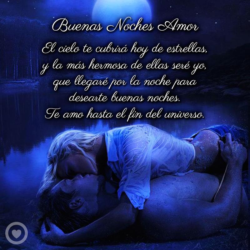 bonito mensaje de buenas noches amor