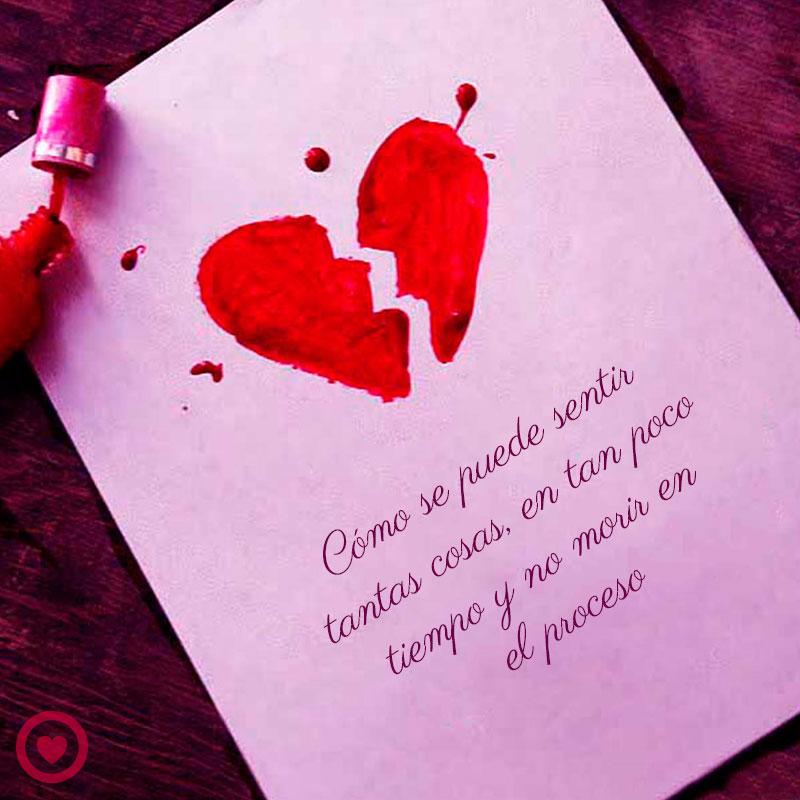 Carta Con Corazon Roto Y Frase Triste De Amor
