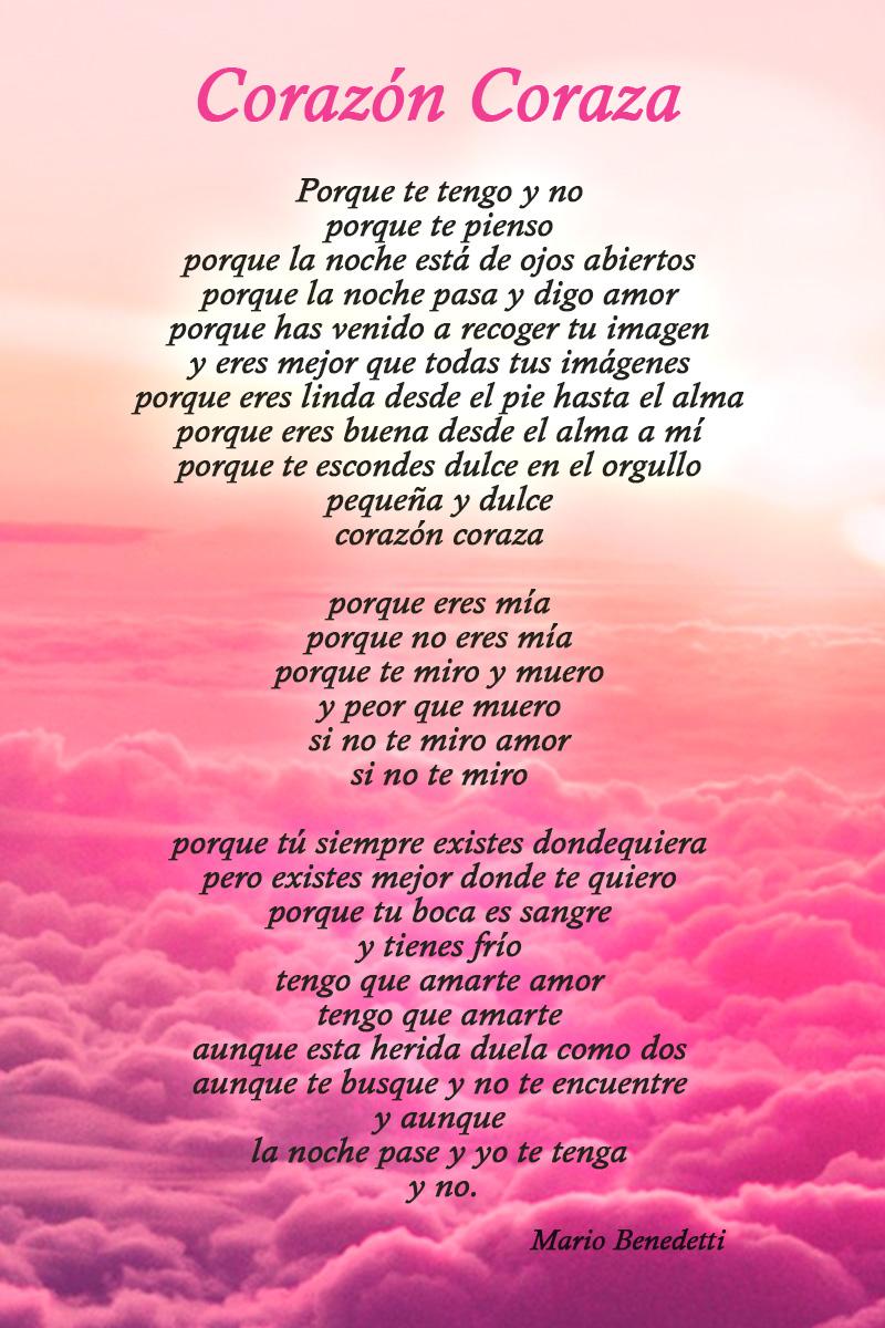 Corazon Coraza Mario Benedetti Amor