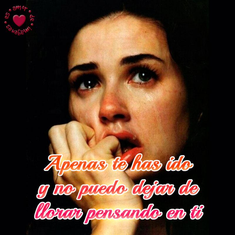desgarradora imagen de mujer llorando con frase de despedida